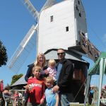 Family at the mill