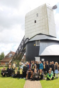 Year 3S children from All Saints C of E Junior Academy in Hastings in front of the Windmill May 2015.